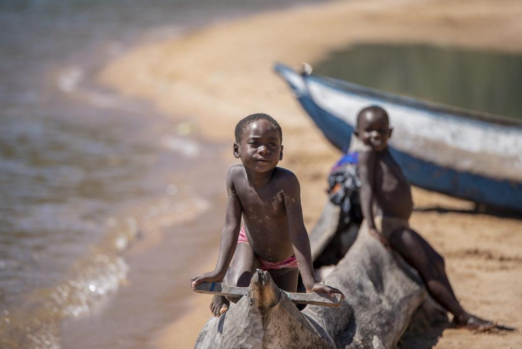Posing at a Canoe – Malawi