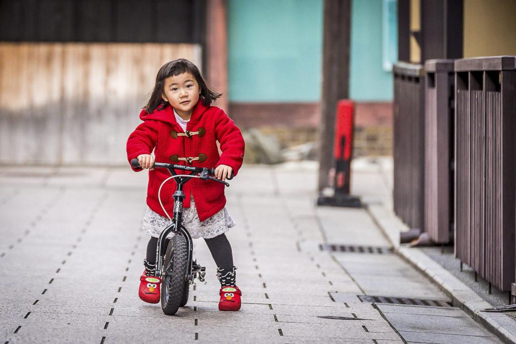 Little girl on a bike – Japan