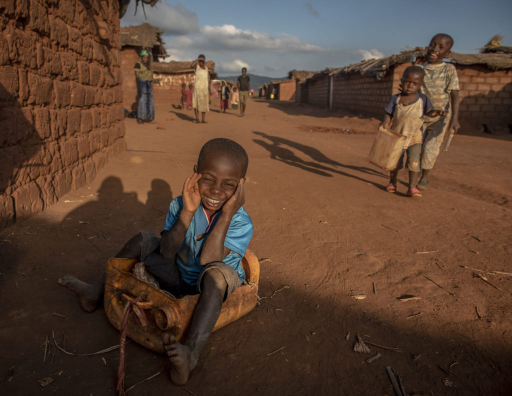 Smiling refugee boy – Malawi