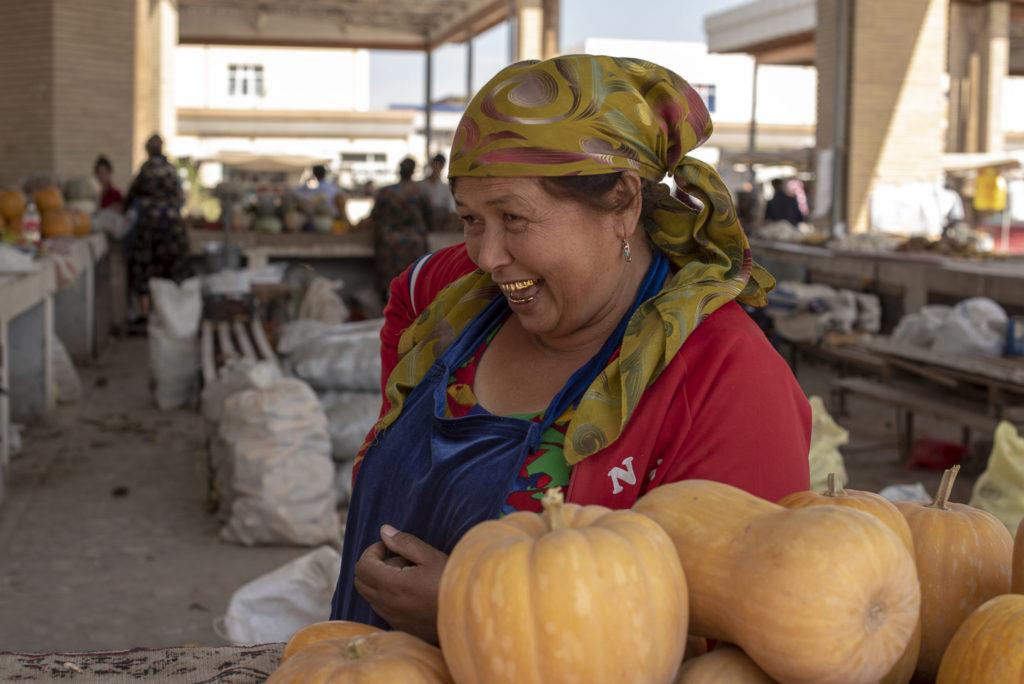 Lovely pumpkin seller – Uzbekistan