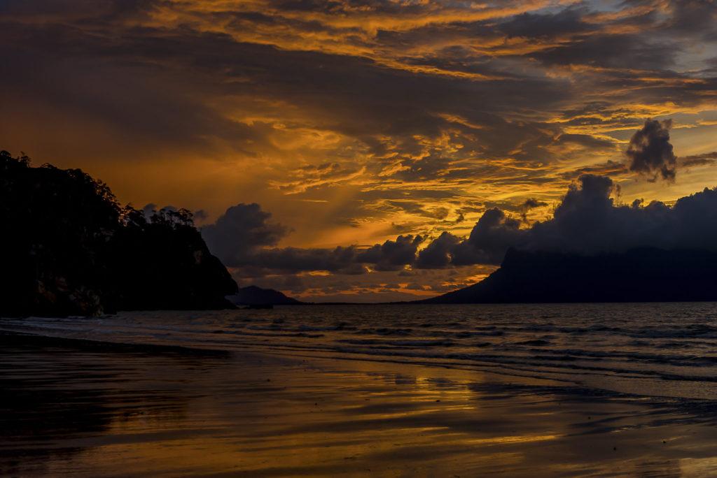 Sunset on a Borneo beach – Malaysia