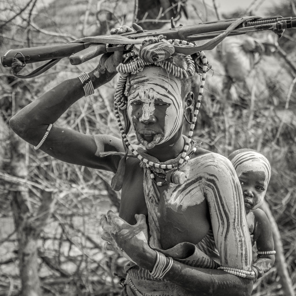 The baby and the gun on me – Ethiopia