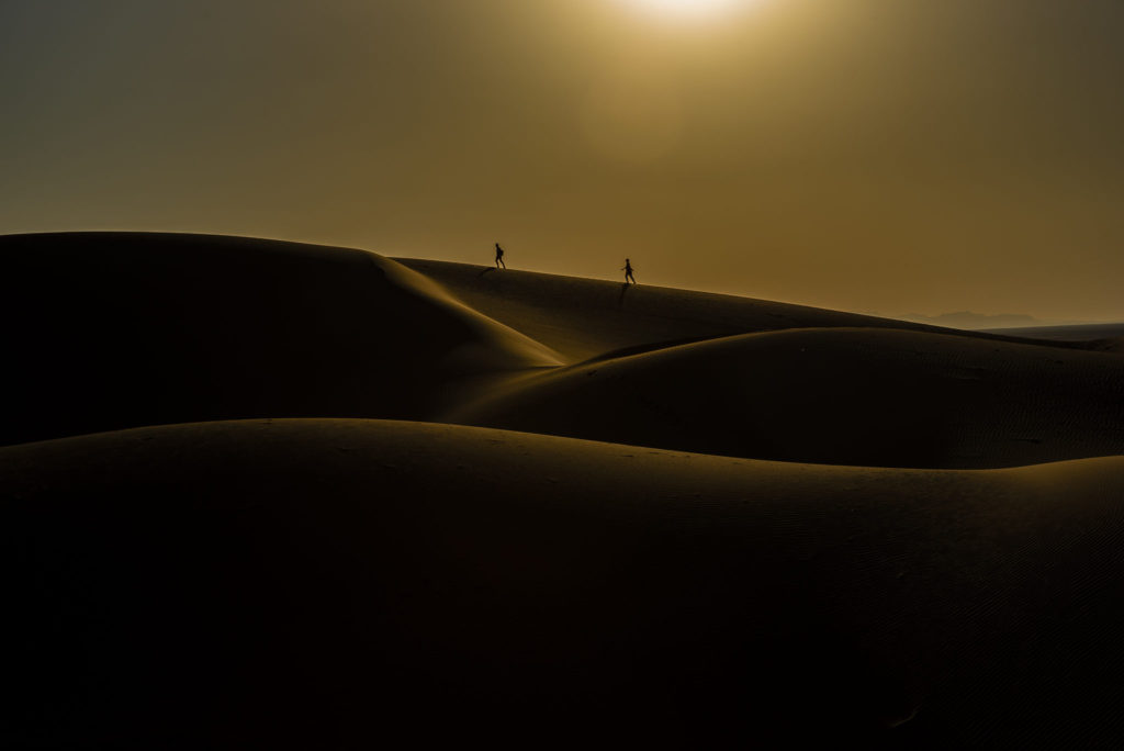 Hike in the sand – Iran