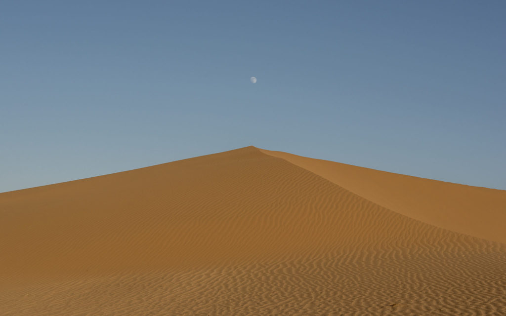 Moon in desert – Iran