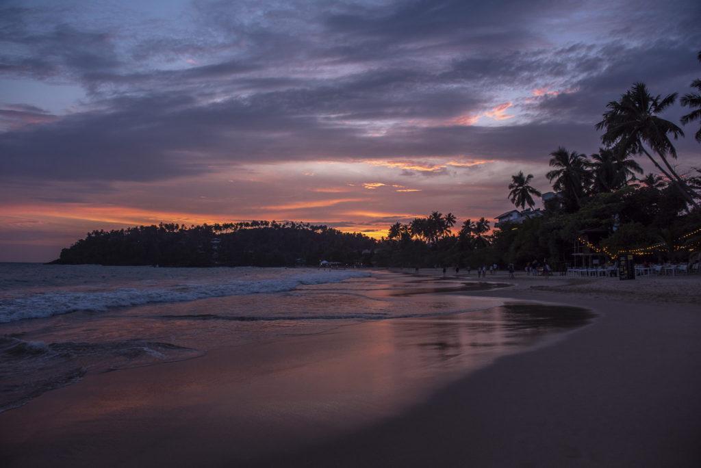 Sunset on the beach – Sri Lanka
