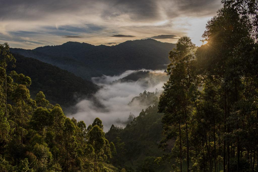 Sun over valley – Uganda