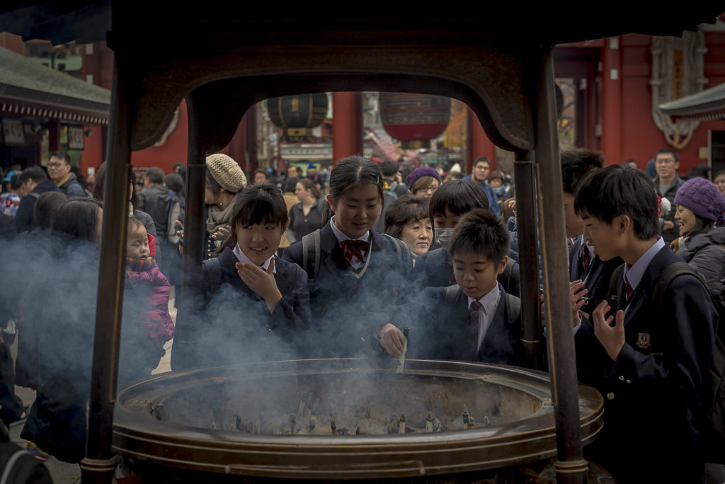 Group prayers – Japan