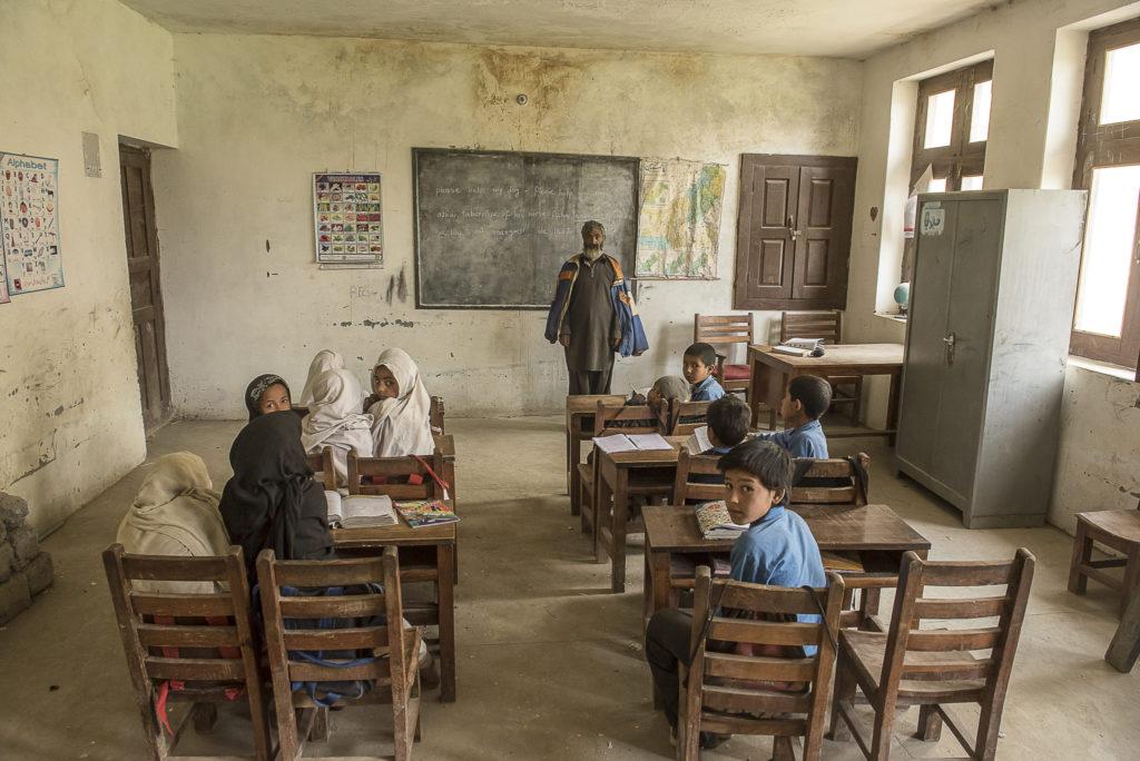 Teaching in a  little school – Pakistan